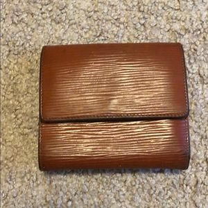 Louis Vuitton Brown Epi Wallet - Authentic